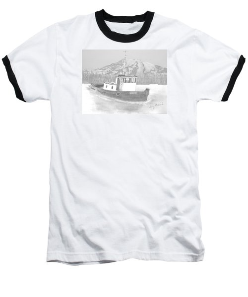 Baseball T-Shirt featuring the drawing Tugboat Union by Terry Frederick