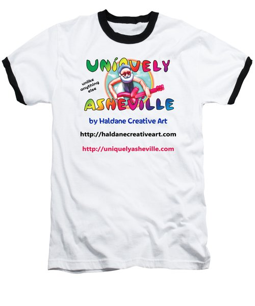Uniquely Asheville Square Baseball T-Shirt