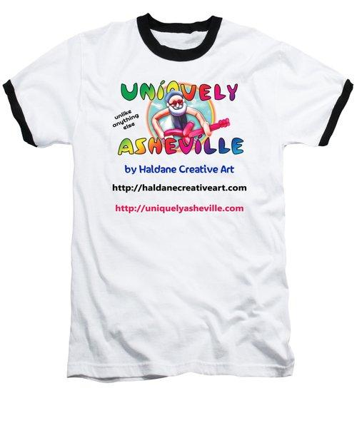 Uniquely Asheville Square Baseball T-Shirt