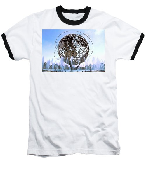 Unisphere With Fountains Baseball T-Shirt