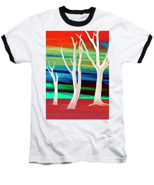 Baseball T-Shirt featuring the photograph United Trees by Munir Alawi