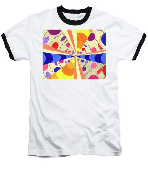 Baseball T-Shirt featuring the drawing Universals by Kim Sy Ok