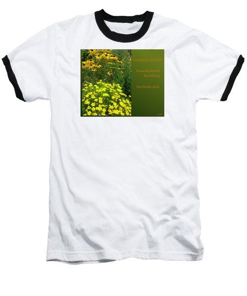 Baseball T-Shirt featuring the digital art Unpegging Wash Haiga by Judi and Don Hall