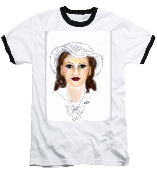 Baseball T-Shirt featuring the drawing Unprepared by Desline Vitto