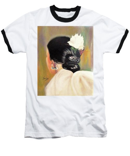 Untitled Dancer With White Flower Baseball T-Shirt