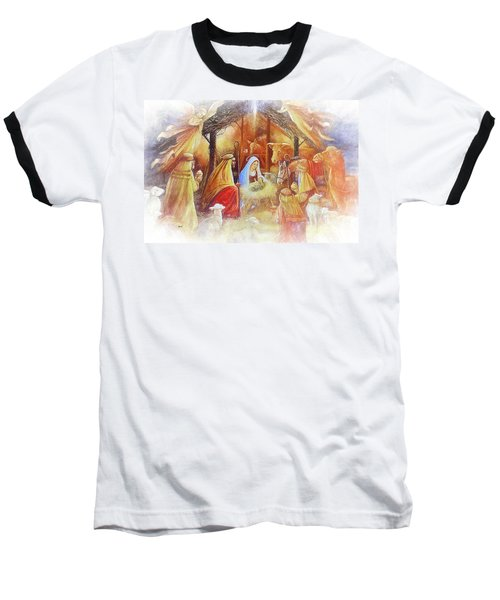 Unto Us A Savior Is Born Baseball T-Shirt