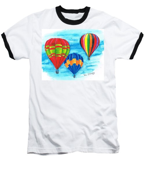 Baseball T-Shirt featuring the painting Up And Away by Val Stokes