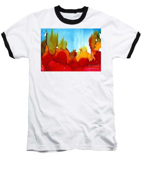 Up In Flames Baseball T-Shirt