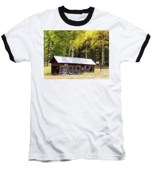 Uptop A Colorado Ghost Town Baseball T-Shirt by Nadja Rider