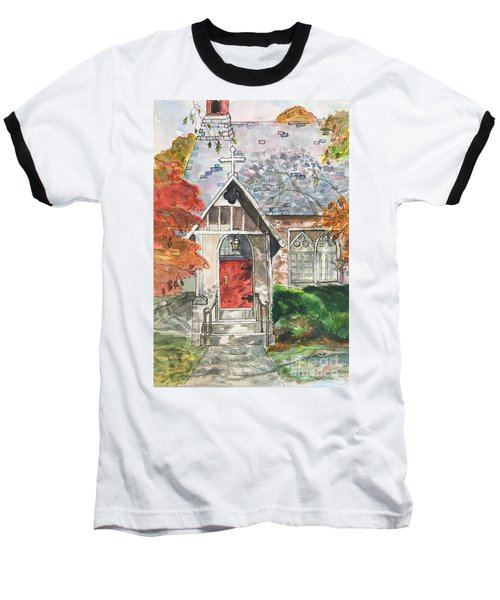 Baseball T-Shirt featuring the painting Urban  Church Sketching by Lucia Grilletto