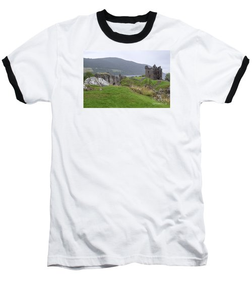 Urquhart Castle - Drumnadrochit Baseball T-Shirt by Amy Fearn