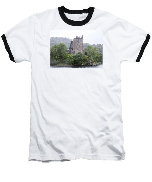 Urquhart Castle - Grant Tower Baseball T-Shirt by Amy Fearn