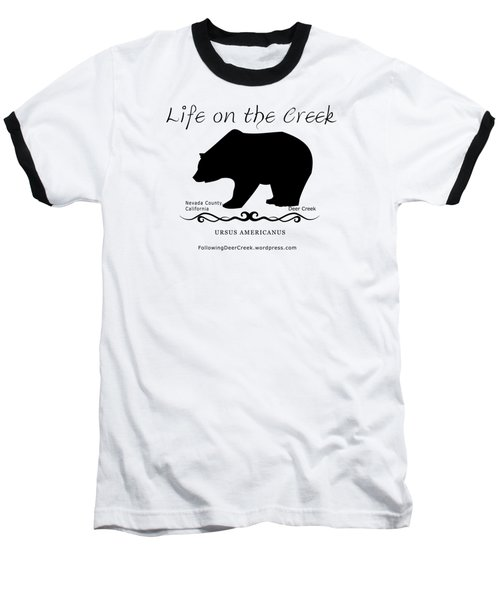 Ursus Americanus - Black Text Baseball T-Shirt