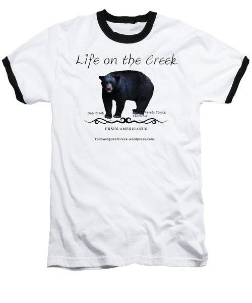 Ursus Americanus - Color Bear Black Text Baseball T-Shirt