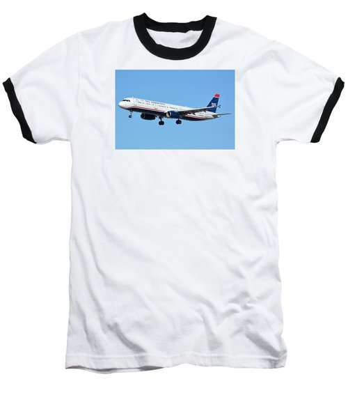 Us Airways Airbus A321-231 N567uw Baseball T-Shirt