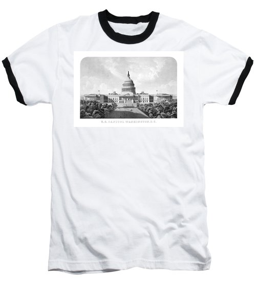 Us Capitol Building - Washington Dc Baseball T-Shirt