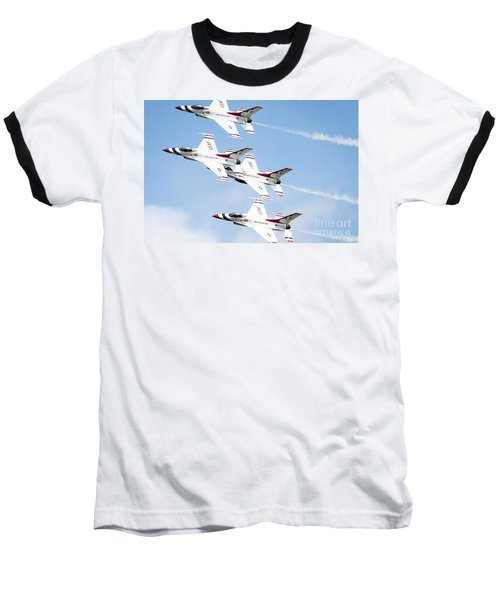 Usaf Thunderbirds Baseball T-Shirt by Lawrence Burry