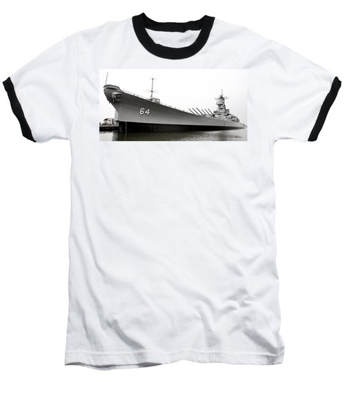 Uss Wisconsin - Port-side Baseball T-Shirt