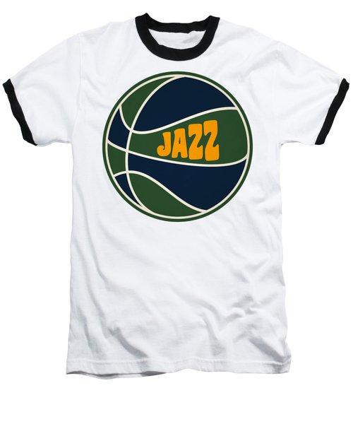 Utah Jazz Retro Shirt Baseball T-Shirt by Joe Hamilton