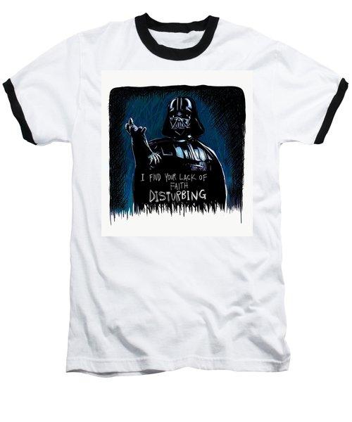 Baseball T-Shirt featuring the digital art Vader by Antonio Romero
