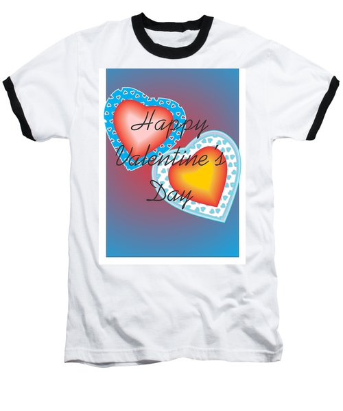 Baseball T-Shirt featuring the painting Valentine Lace by Sherril Porter