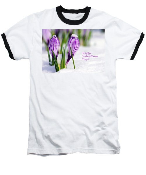 Valentines Day Crocuses Baseball T-Shirt