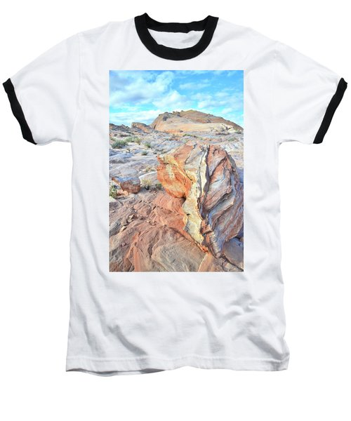 Valley Of Fire Alien Boulder Baseball T-Shirt by Ray Mathis