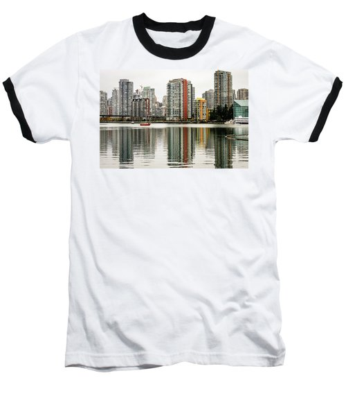 Vancouver Bc Sky Line Baseball T-Shirt by Menachem Ganon