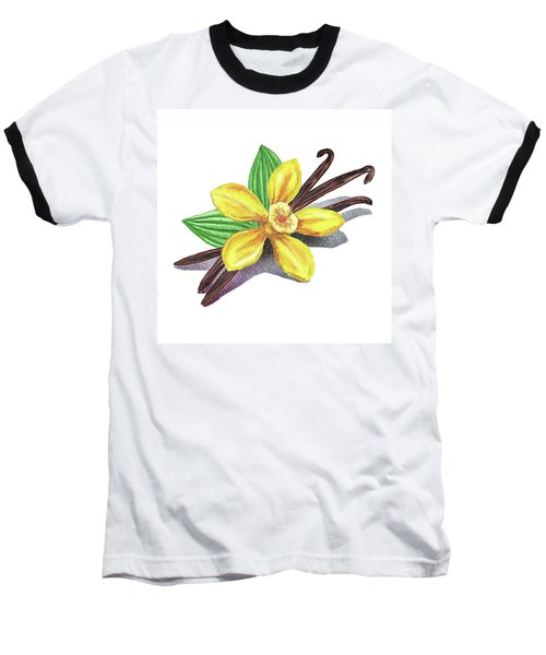 Vanilla Sticks And Flower Baseball T-Shirt