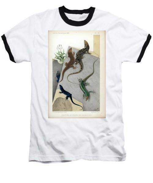 Varieties Of Wall Lizard Baseball T-Shirt