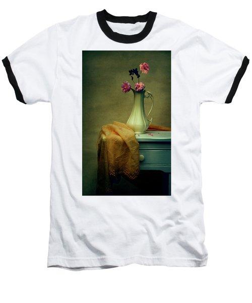 Vase Of Pink Roses Baseball T-Shirt