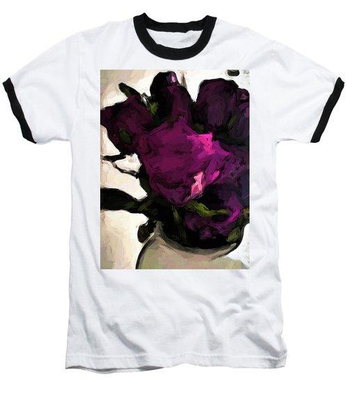 Vase Of Roses With Shadows 1 Baseball T-Shirt
