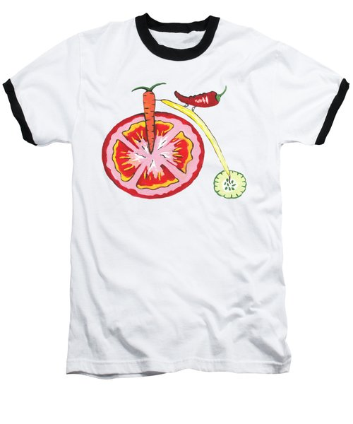 Veggie Bike - Health Baseball T-Shirt