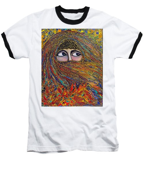 Baseball T-Shirt featuring the painting Veiled by Rae Chichilnitsky