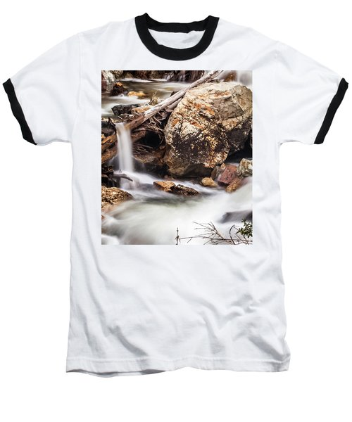 Velvet Falls - Rocky Mountain Stream Baseball T-Shirt