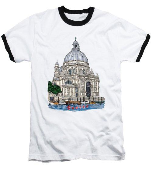 Baseball T-Shirt featuring the drawing Venice  by Andrzej Szczerski
