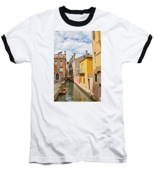 Venice Canal Baseball T-Shirt by Sharon Jones