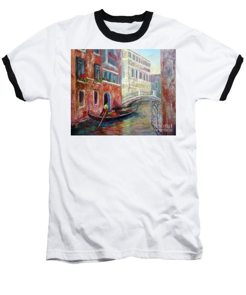 Venice Gondola Ride Baseball T-Shirt