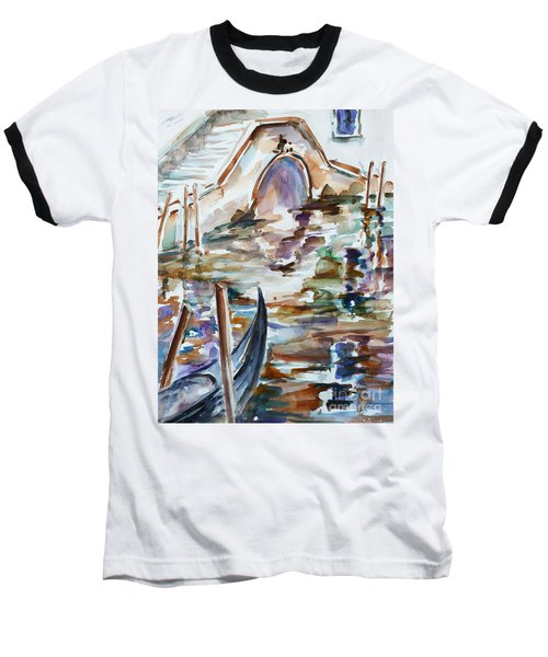 Baseball T-Shirt featuring the painting Venice Impression I by Xueling Zou
