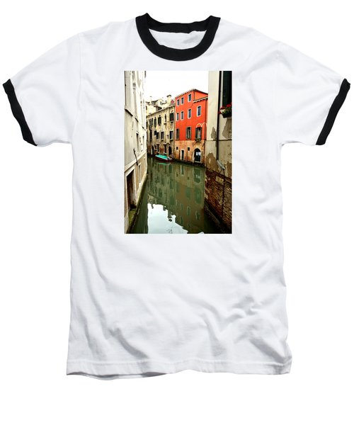 Venice Street Scene 3 Baseball T-Shirt by Richard Ortolano
