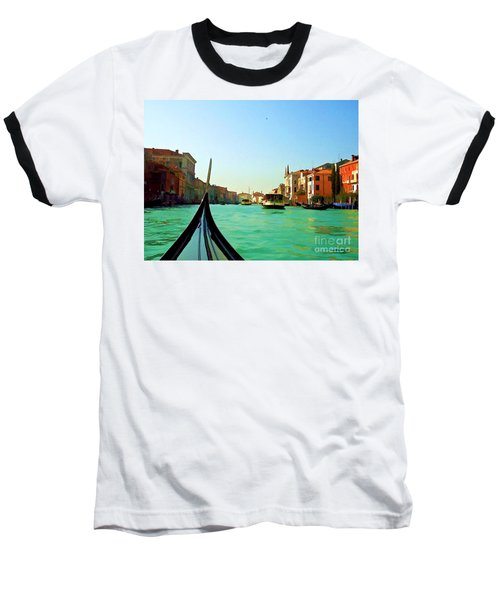 Baseball T-Shirt featuring the photograph Venice Waterway by Roberta Byram
