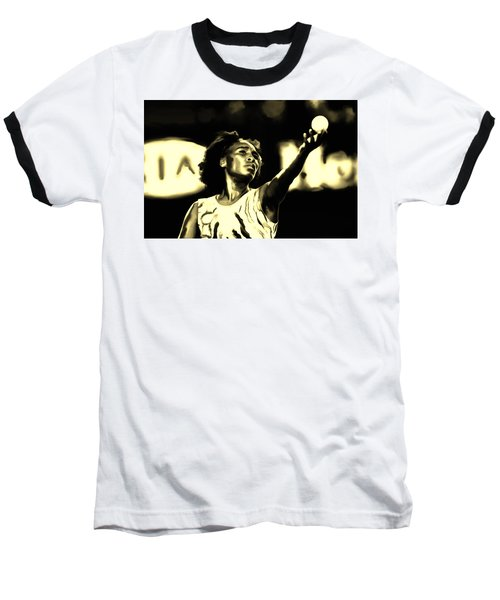 Venus Williams Match Point Baseball T-Shirt by Brian Reaves