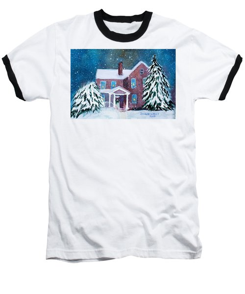Baseball T-Shirt featuring the painting Vermont Studio Center In Winter by Donna Walsh