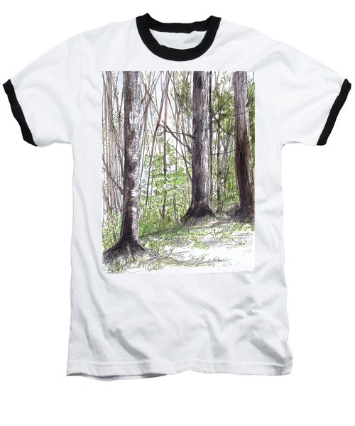 Vermont Woods Baseball T-Shirt by Laurie Rohner