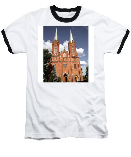 Very Old Church In Odrzywol, Poland Baseball T-Shirt