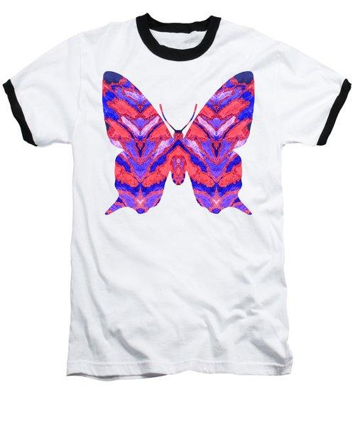 Vibrant Butterfly  Baseball T-Shirt