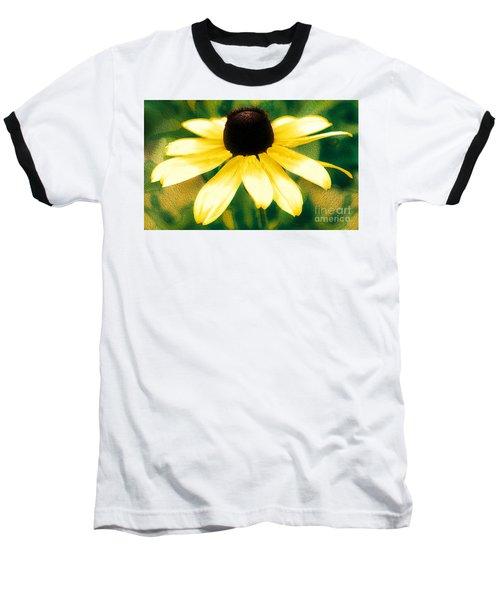Vibrant Yellow Coneflower Baseball T-Shirt