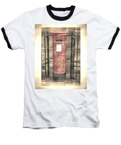 Victorian Red Post Box Baseball T-Shirt