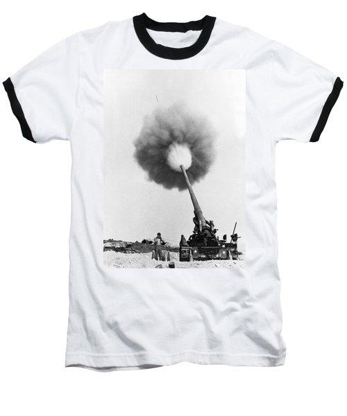 Vietnam Artillery Firing Baseball T-Shirt