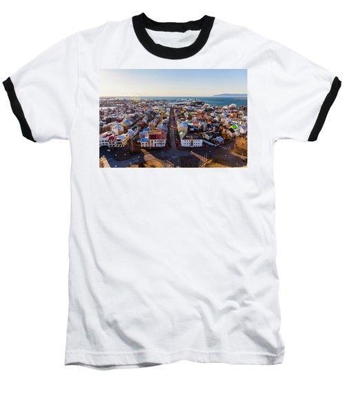 View From Hallgrimskirka Baseball T-Shirt by Wade Courtney